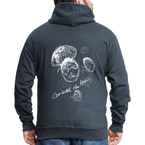 Go with the flow - Men's Premium Hooded Jacket