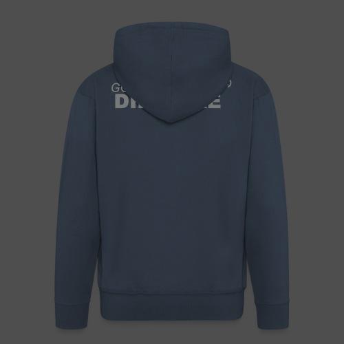 jeździć dirtbike bl - Rozpinana bluza męska z kapturem Premium