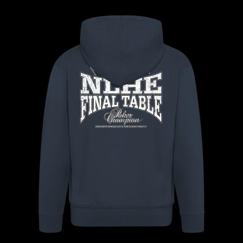 NLHE Final Table (white oldstyle) - Men's Premium Hooded Jacket