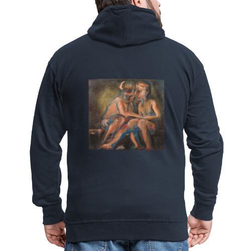 Gli Angeli. Arte da indossare. Regali con arte. - Felpa con zip Premium da uomo