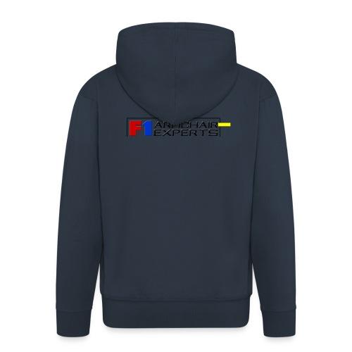 F1 Armchair Experts Logo BK - Men's Premium Hooded Jacket