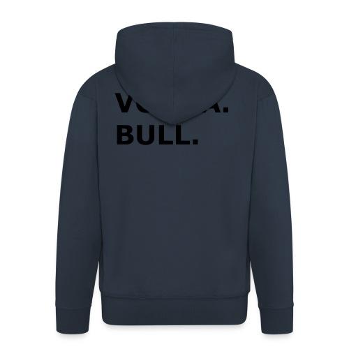 Vodka Bull Schwarz - Männer Premium Kapuzenjacke