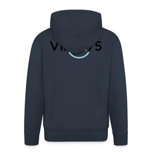 VINO75 - Felpa con zip Premium da uomo