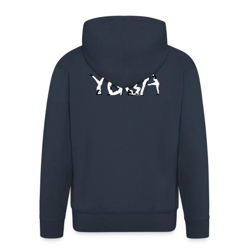 Yoga white - Männer Premium Kapuzenjacke