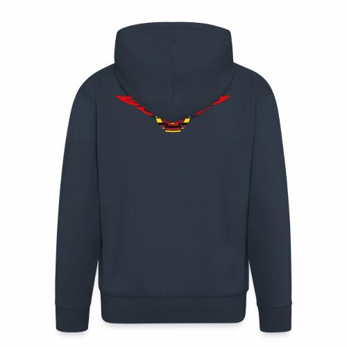 Car flames crest 3c - Men's Premium Hooded Jacket