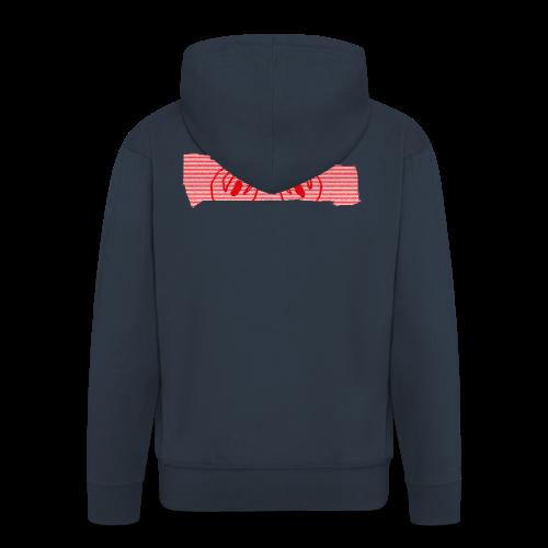 abderyckie linie - Rozpinana bluza męska z kapturem Premium