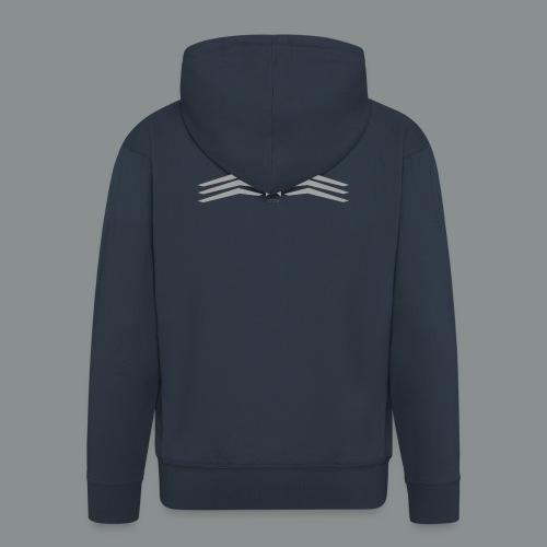 grey - Felpa con zip Premium da uomo