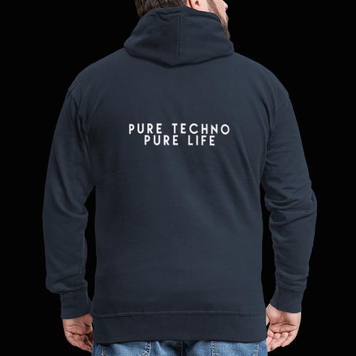 Pure Techno Pure Life White - Männer Premium Kapuzenjacke