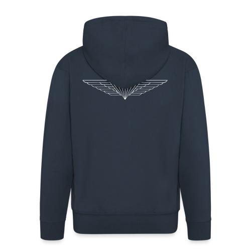 White - Men's Premium Hooded Jacket