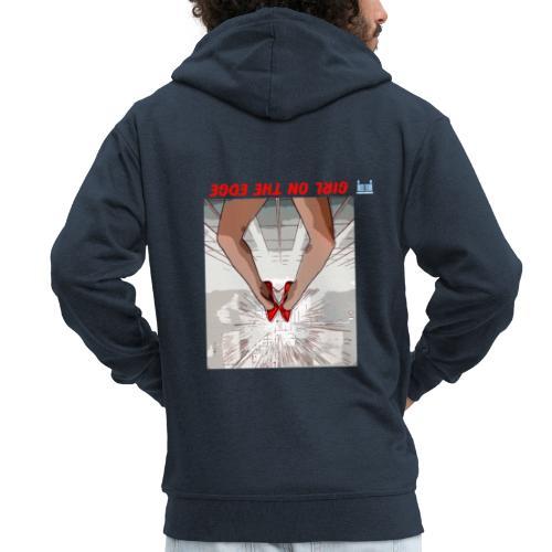Girl On The Edge - Men's Premium Hooded Jacket