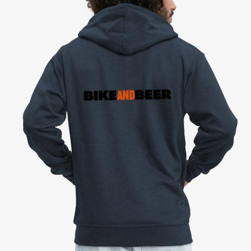 bike and beer banner - Veste à capuche Premium Homme