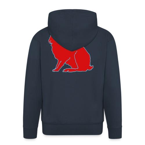 Roter Hase - Männer Premium Kapuzenjacke