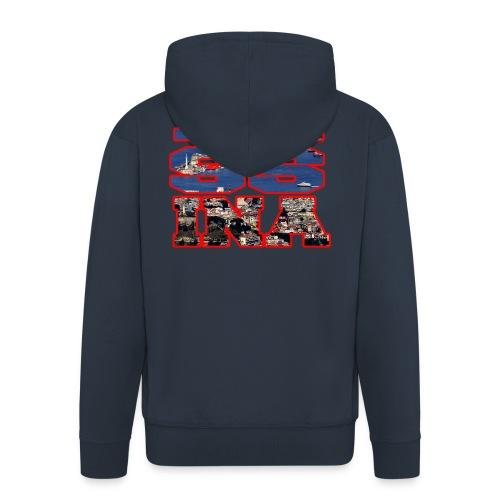 MESSINA RED - Felpa con zip Premium da uomo