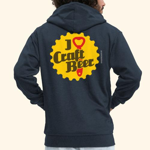 Craft Beer T-Shirt Design I Love Craft Beer - Männer Premium Kapuzenjacke