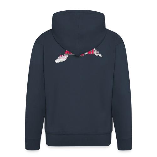 Maglietta Donna Liguria - Felpa con zip Premium da uomo