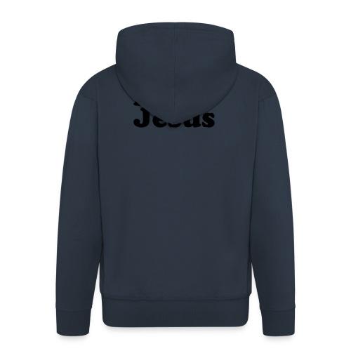 I Love Jesus - Felpa con zip Premium da uomo