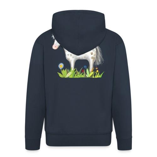 Fee. Das Pferd und die kleine Reiterin. - Männer Premium Kapuzenjacke
