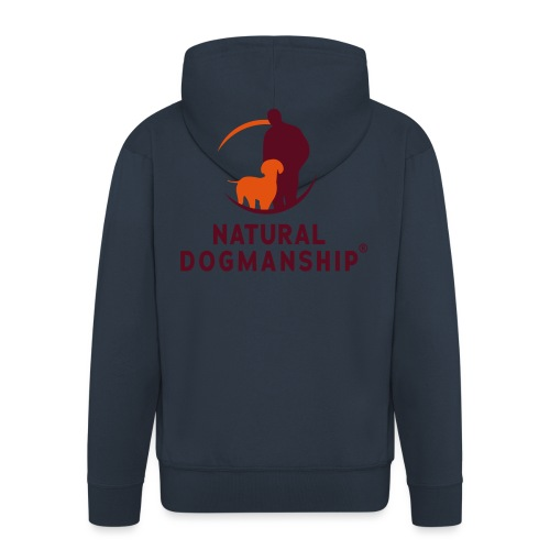 Natural Dogmanship Logo - Männer Premium Kapuzenjacke