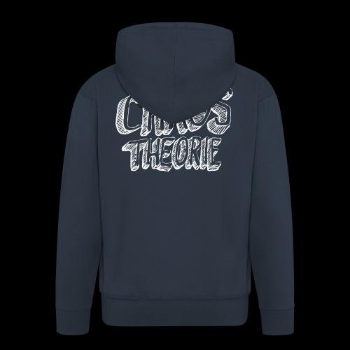 Chaos Theory (valkoinen) - Miesten premium vetoketjullinen huppari