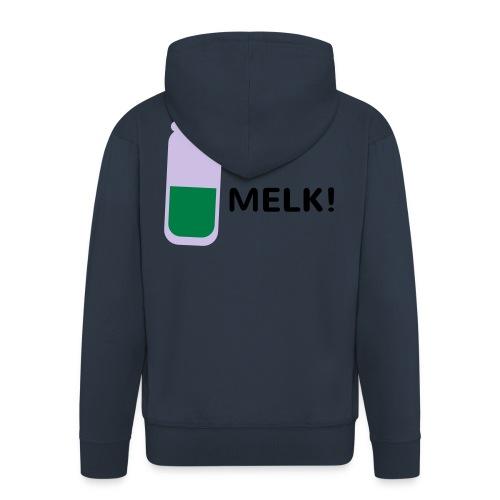 Grappige Rompertjes: Melk - Mannenjack Premium met capuchon
