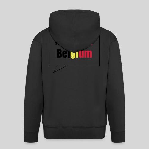 #PrayForBelgium - Veste à capuche Premium Homme