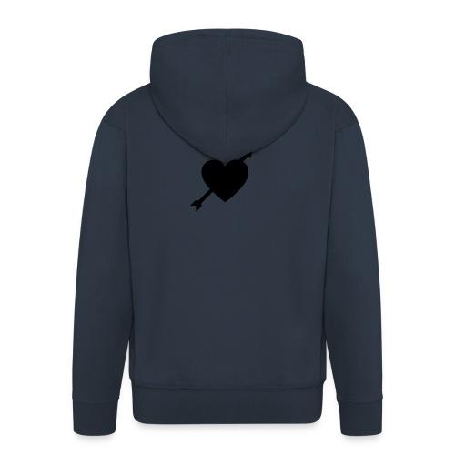I'm In Love - Felpa con zip Premium da uomo