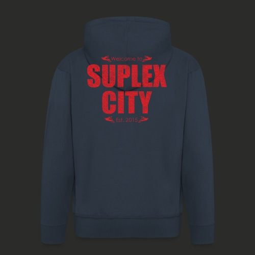 Suplex City Mens T-Shirt - Men's Premium Hooded Jacket
