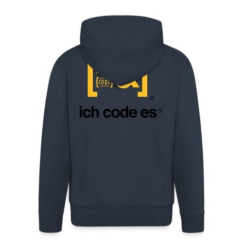 ich code es - Thermobecher - Männer Premium Kapuzenjacke