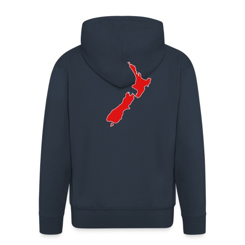 New Zealand Map - Men's Premium Hooded Jacket