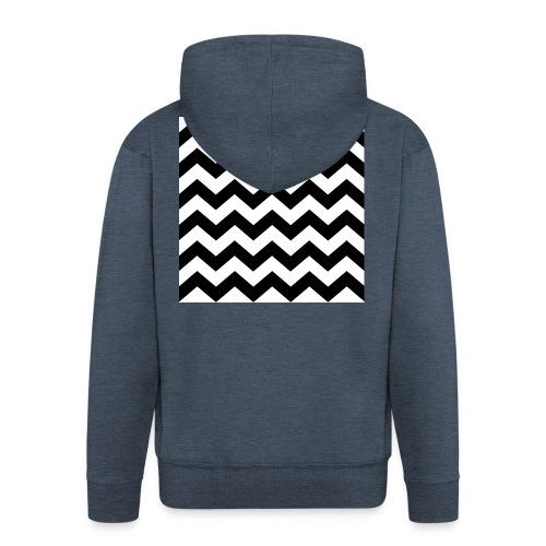 zigzag png - Veste à capuche Premium Homme