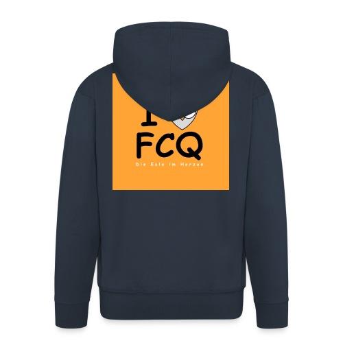 I Love FCQ button orange - Männer Premium Kapuzenjacke