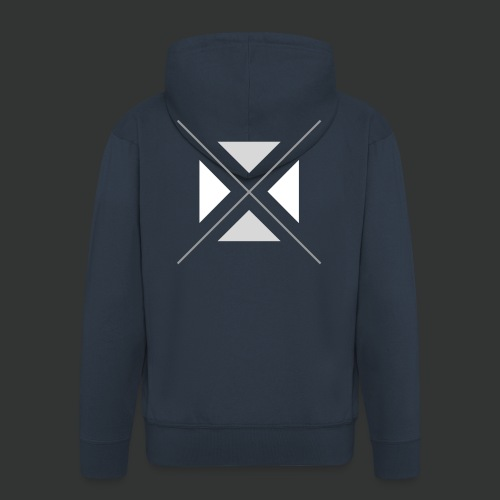 hipster triangles - Men's Premium Hooded Jacket
