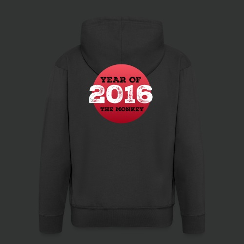 2016 year of the monkey - Men's Premium Hooded Jacket