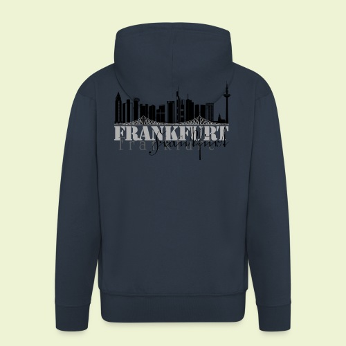 FFM - Frankfurt Skyline - Männer Premium Kapuzenjacke