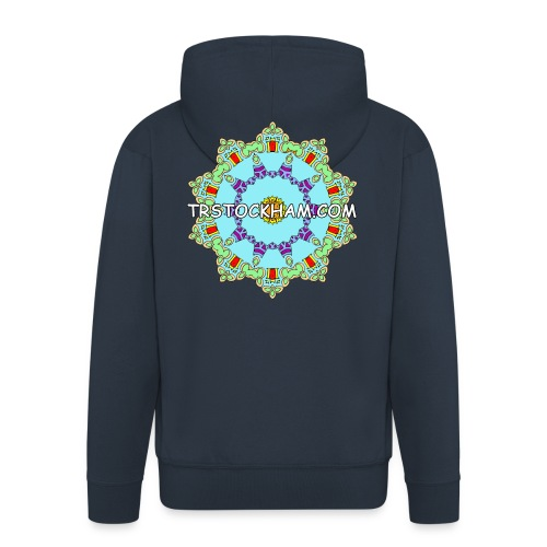 Enjoyably Quirky Colouring Book Design 9 - Men's Premium Hooded Jacket