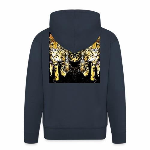 Karo Style Tiger - Männer Premium Kapuzenjacke