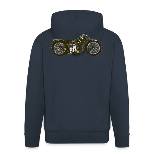 Classic Cafe Racer - Men's Premium Hooded Jacket