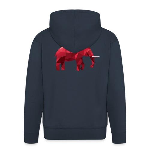 Elefant Vektor Rot - Männer Premium Kapuzenjacke