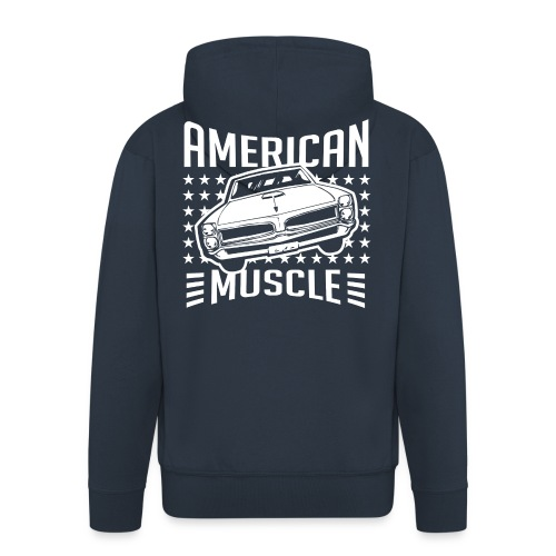Pontiac GTO American Muscle - Men's Premium Hooded Jacket
