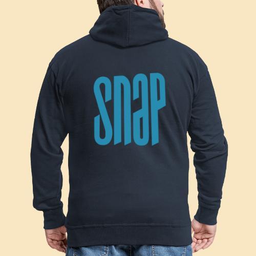 SNAP blue 003 - Männer Premium Kapuzenjacke