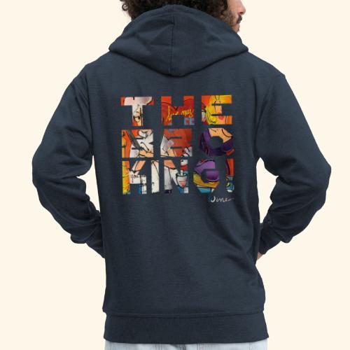 THE BBQ KING T SHIRTS TEKST - Mannenjack Premium met capuchon