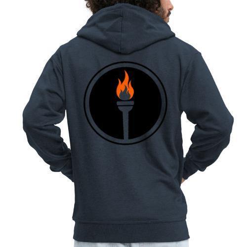 Une génération qui seul - torche - Veste à capuche Premium Homme