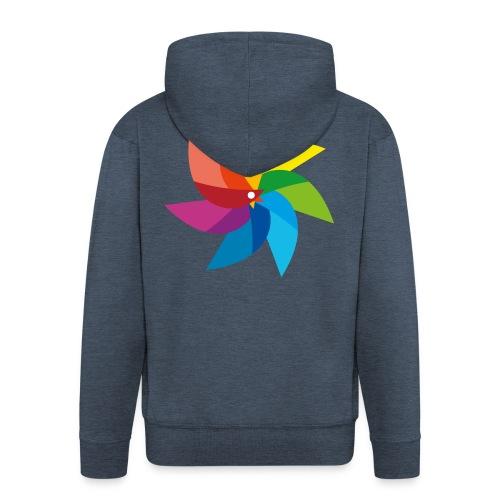 bunte Windmühle Kinderspielzeug Regenbogen Sommer - Men's Premium Hooded Jacket
