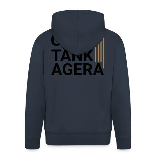 T-shirt för inspiration. Gasa-Tänk-Agera - Premium-Luvjacka herr