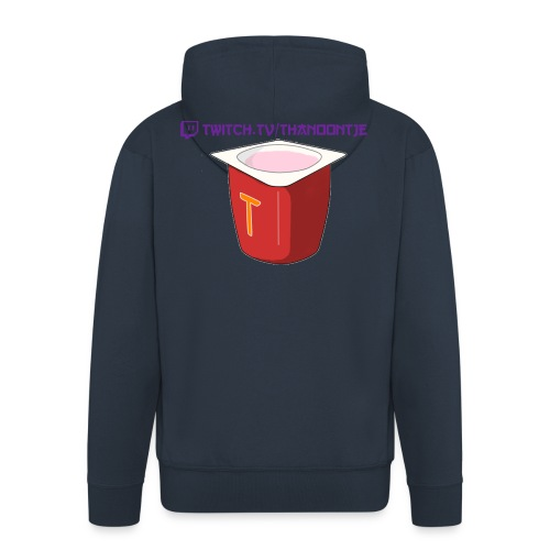 Snapback Thanoontje logo - Men's Premium Hooded Jacket