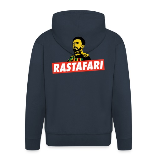 Rastafari - Haile Selassie - HIM - Jah Rastafara - Männer Premium Kapuzenjacke