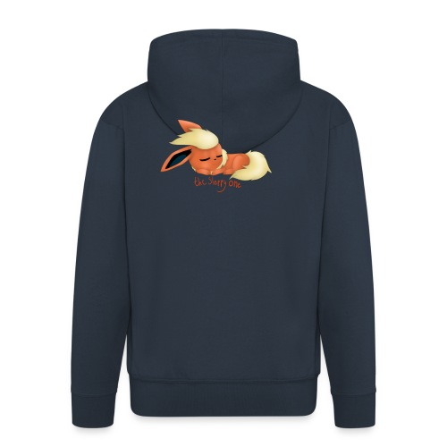 eevee - flareon - the sleppy one - Men's Premium Hooded Jacket