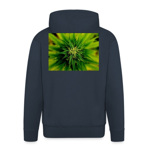 super weed - Rozpinana bluza męska z kapturem Premium