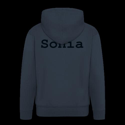 i love sonia - Rozpinana bluza męska z kapturem Premium