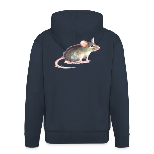 Kleine graue Maus - Männer Premium Kapuzenjacke